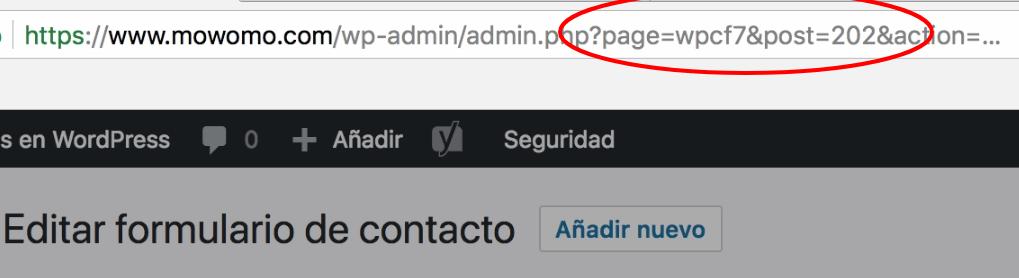Formulario de contacto como tipo de post personalizado en WordPress