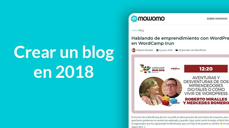 Crear un blog en 2018