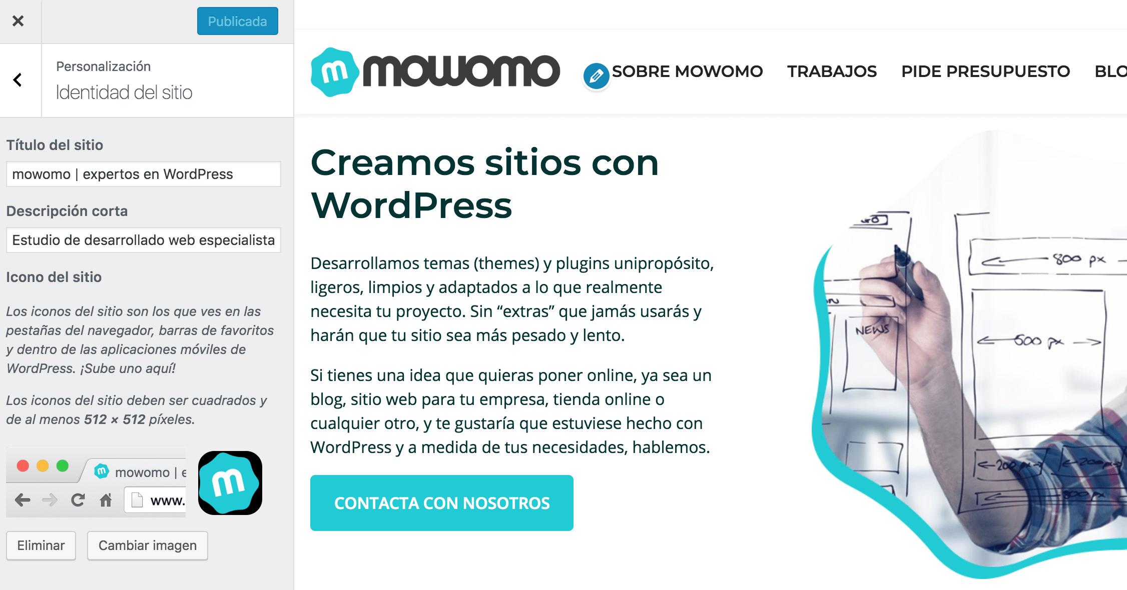 WordPress Customizer - Personalizador de WordPress