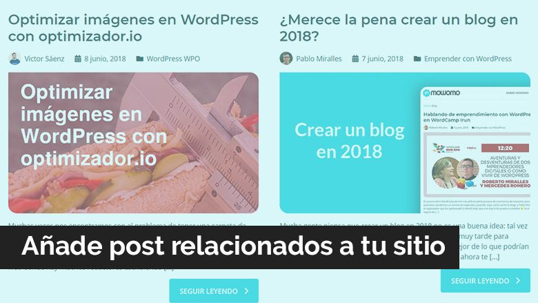 Añadir posts relacionados en WordPress