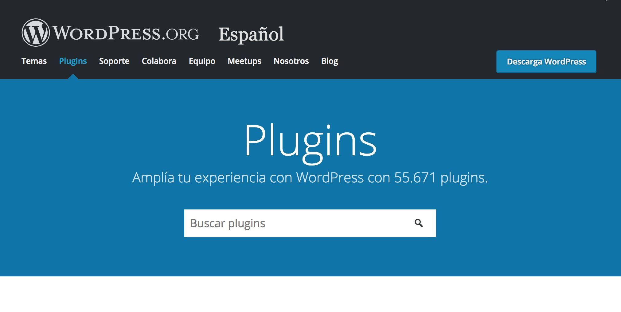 Repositorio oficial plugins WordPress