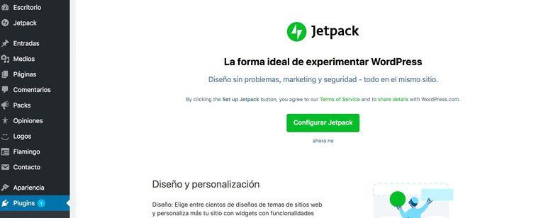 Configurar Jetpack