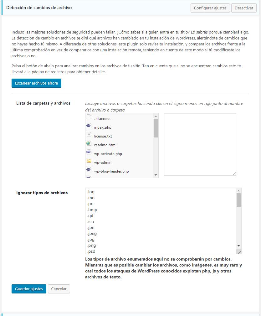 detección de cambios de archivo