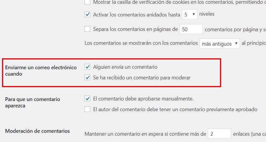 Cómo quitar las notificaciones de los comentarios en WordPress