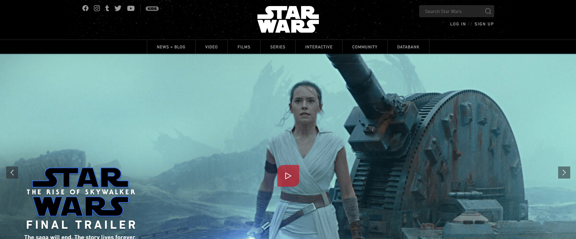 Star war with WordPress