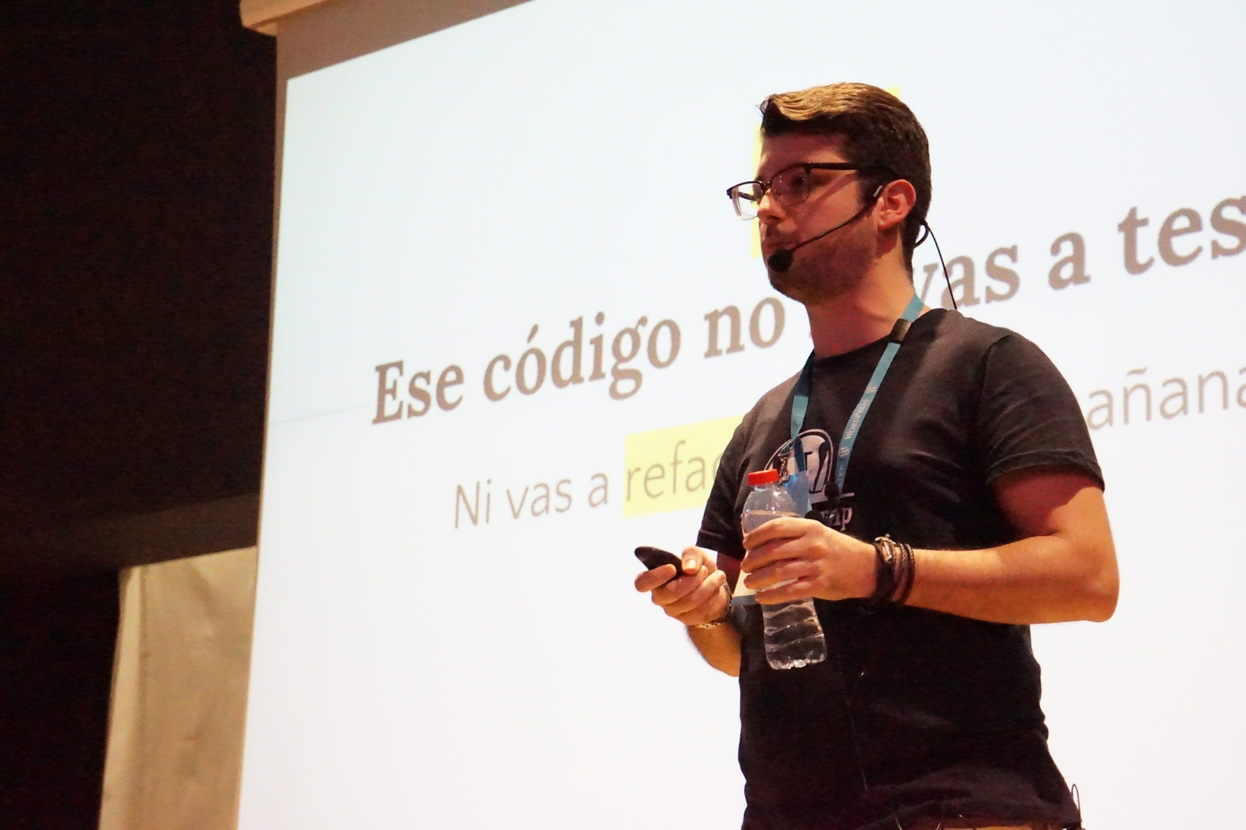 Santiago Alonso en la WordCamp Chiclana 2020