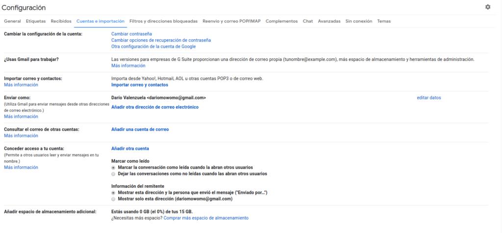 Recibir correo corporativo en dirección de Gmail
