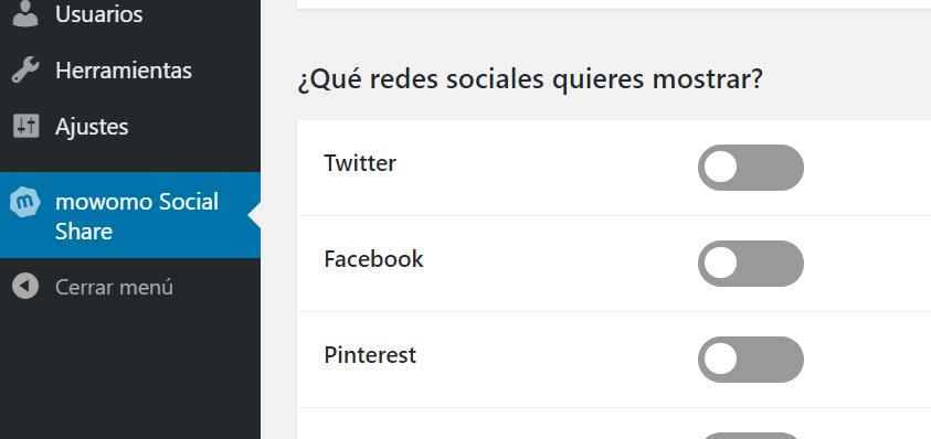 Cómo instalar mowomo Social Share