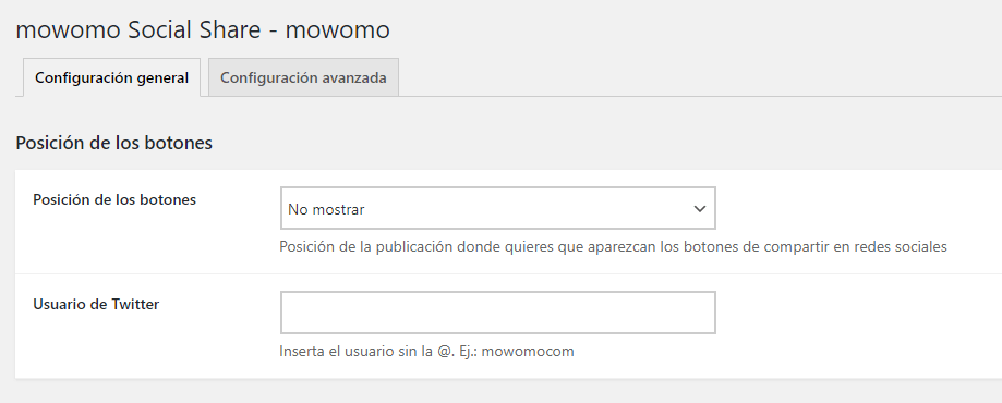 Cómo compartir las entradas en redes sociales - mowomo Social Share